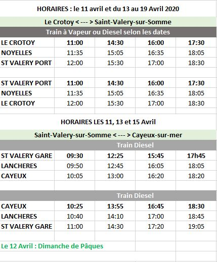 HORAIRES CFBS 2020